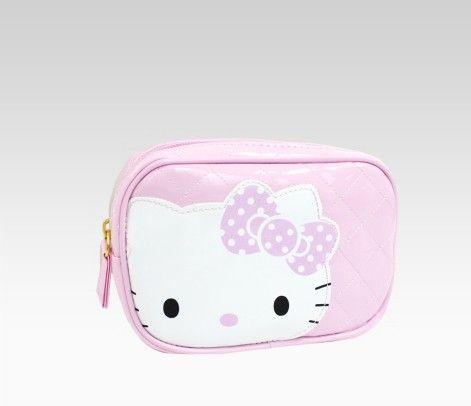Hello Kitty Pink Pouch: Polka Dot Ribbon - Sanrio