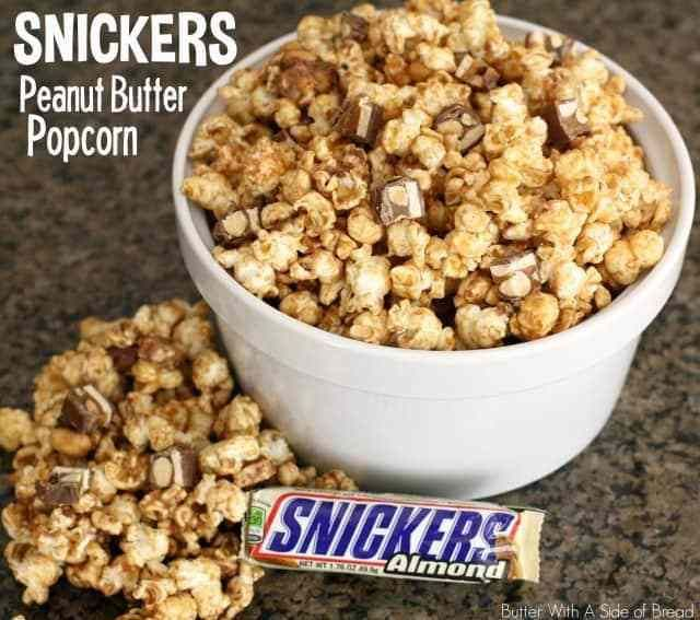 SNICKERS PEANUT BUTTER POPCORN - Butter with a Side of Bread
