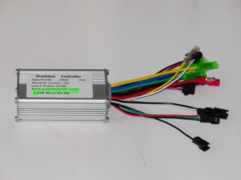 greentime 24v 250w brushless dc motor controller e bike controller rh pinterest com