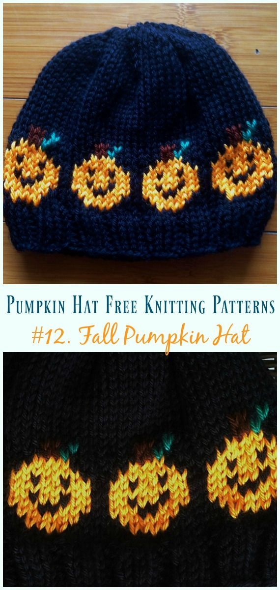 Pumpkin Hat Free Knitting Patterns Baby To Adults Knitting Free