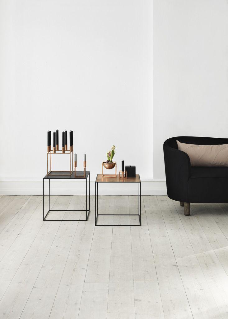 By Lassen Danish and Scandinavian Copper and Black Metal Side Table - einrichtungsideen wohnzimmer beige