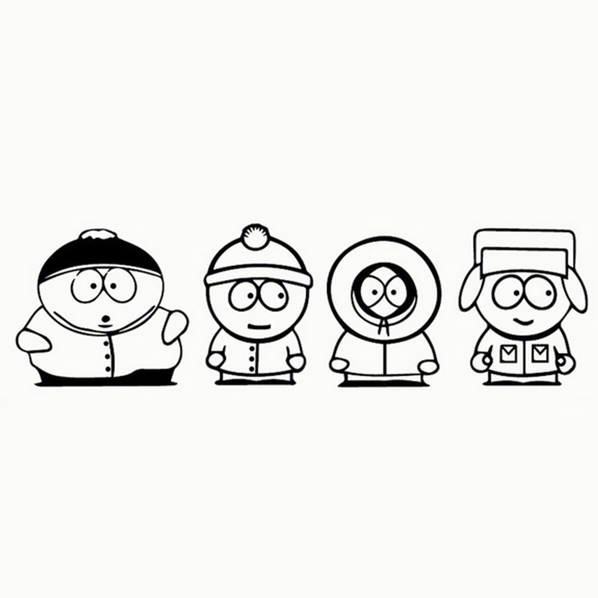 1 59 Funny Jdm South Park Car Window Bedroom Decor Child Laptop Wall Sticker Ebay Home Garden South Park Tattoo South Park Cartoon Tattoos