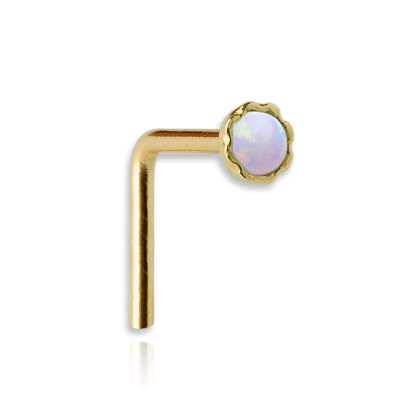 Sampson Nose Ring  Nose Stud  K Yellow Gold Filled  Gauge Set