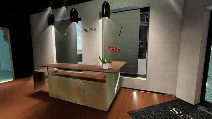 Comptoir accueil boutique concept store design de meuble decoration