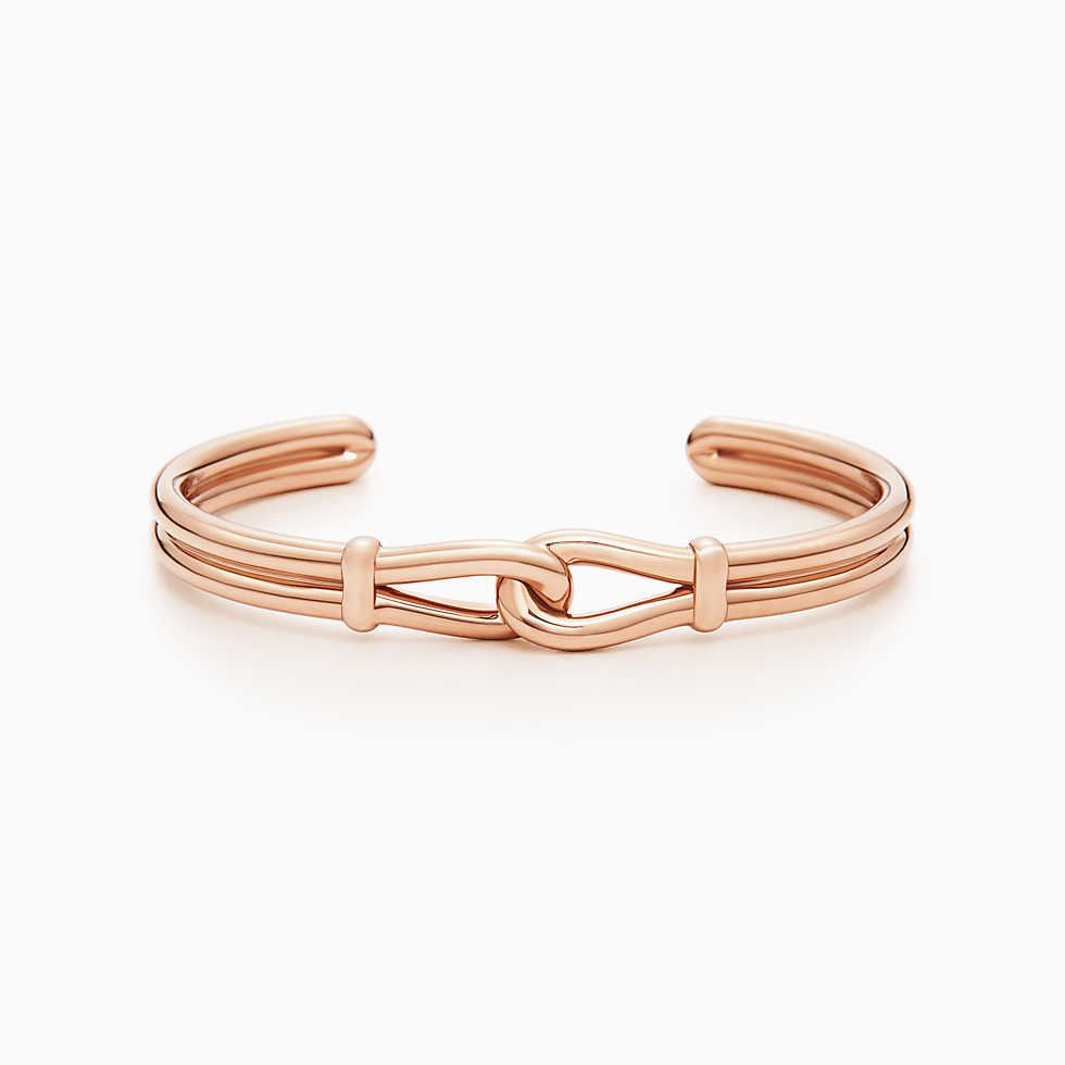 adc2825c7 Tiffany Infinity cuff in sterling silver and 18k rose gold, medium. |  Tiffany & Co.