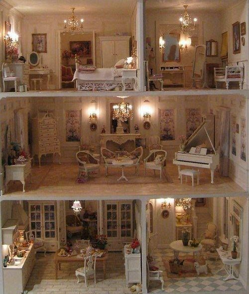 Victorian Dollhouse That Fits Barbies Dollhouse Interior With