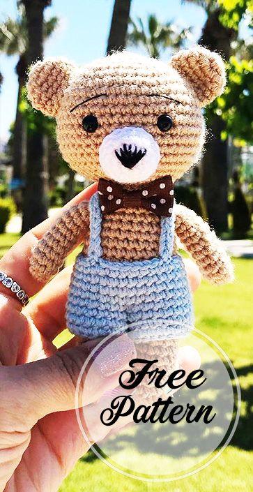 Teddy Bear Free Keychain Amigurumi Pattern – Amigurumi