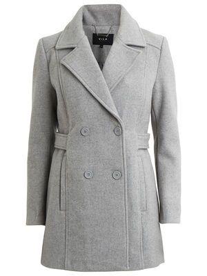 VISOUND – VILA - Coat, Light Grey Melange