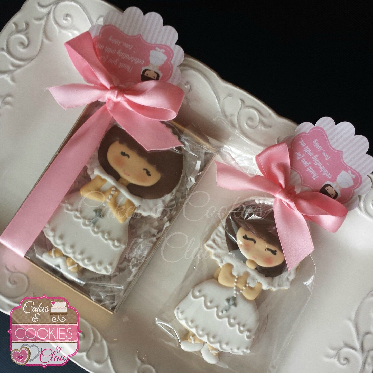 Hand Decorated Custom Baptism & First munion Cookies