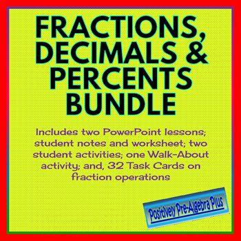 Fractions, Decimals  Percents Bundle