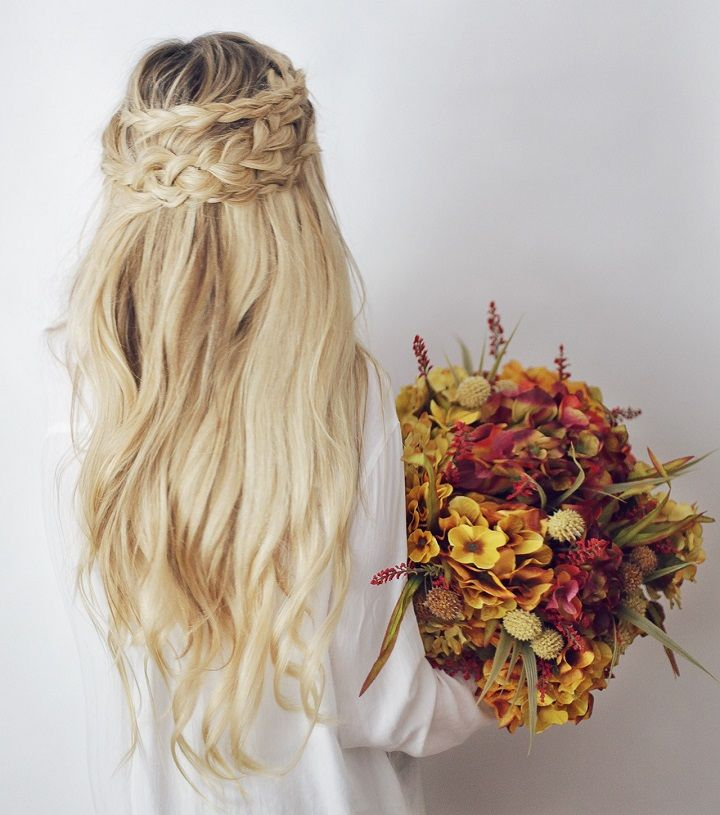 Half Up Half Down Boho Braids Hairstyle Inspiration