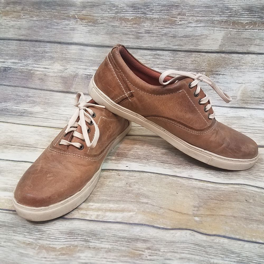 0708122b50e Steve Madden Mens Brown Leather Lace Up Sneakers Shoes size 12 ...