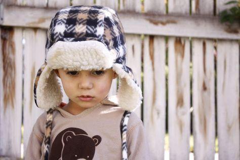 Warme Ohren mit der Holzfällermütze für Kinder | Kinder nähen, für ...