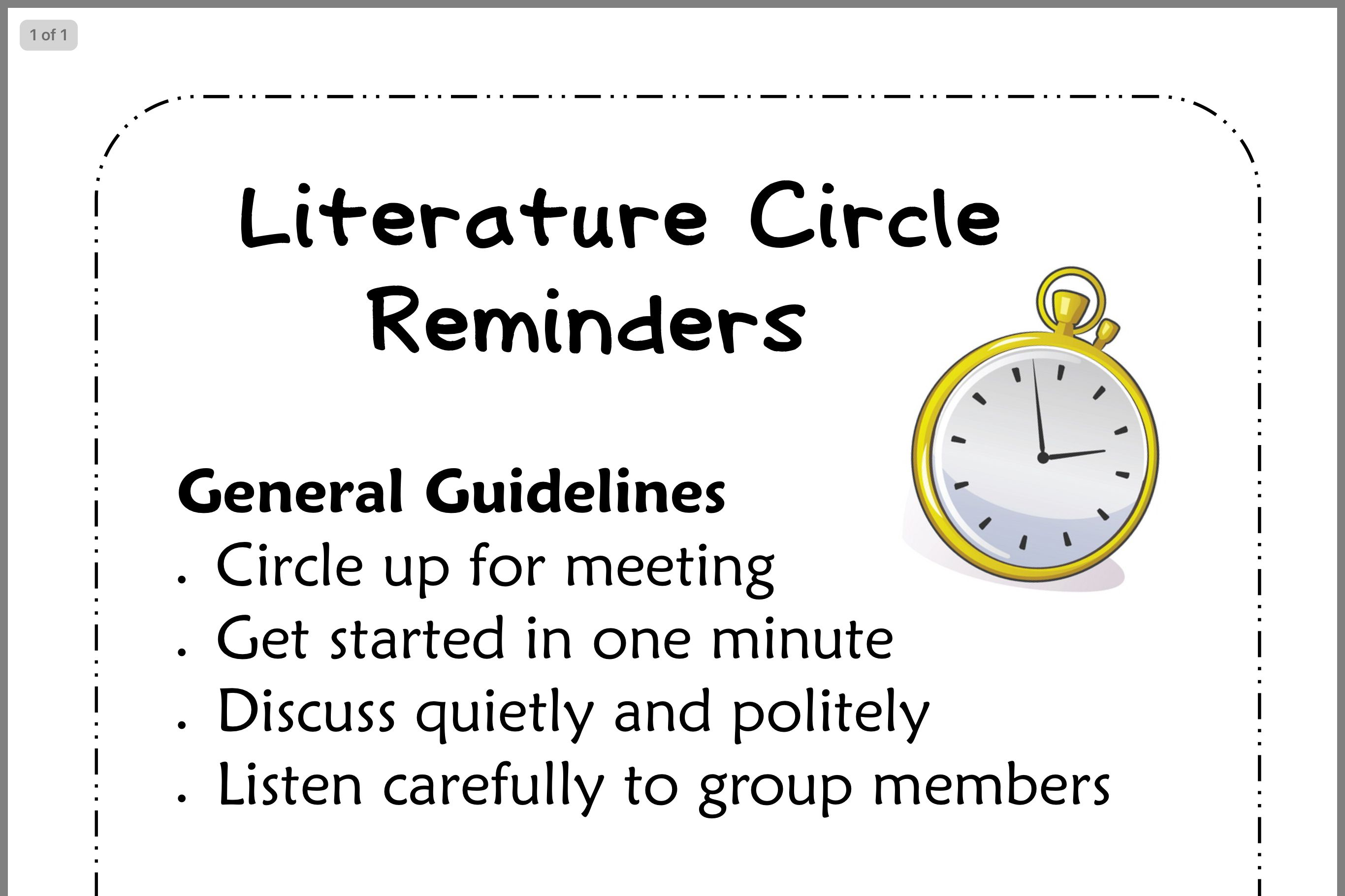 Literature circles image by Michel McRorie Jennings on 3rd