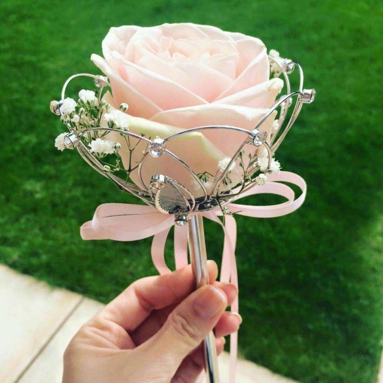 Flower girl wand … Wedding wands, Flower girl wand