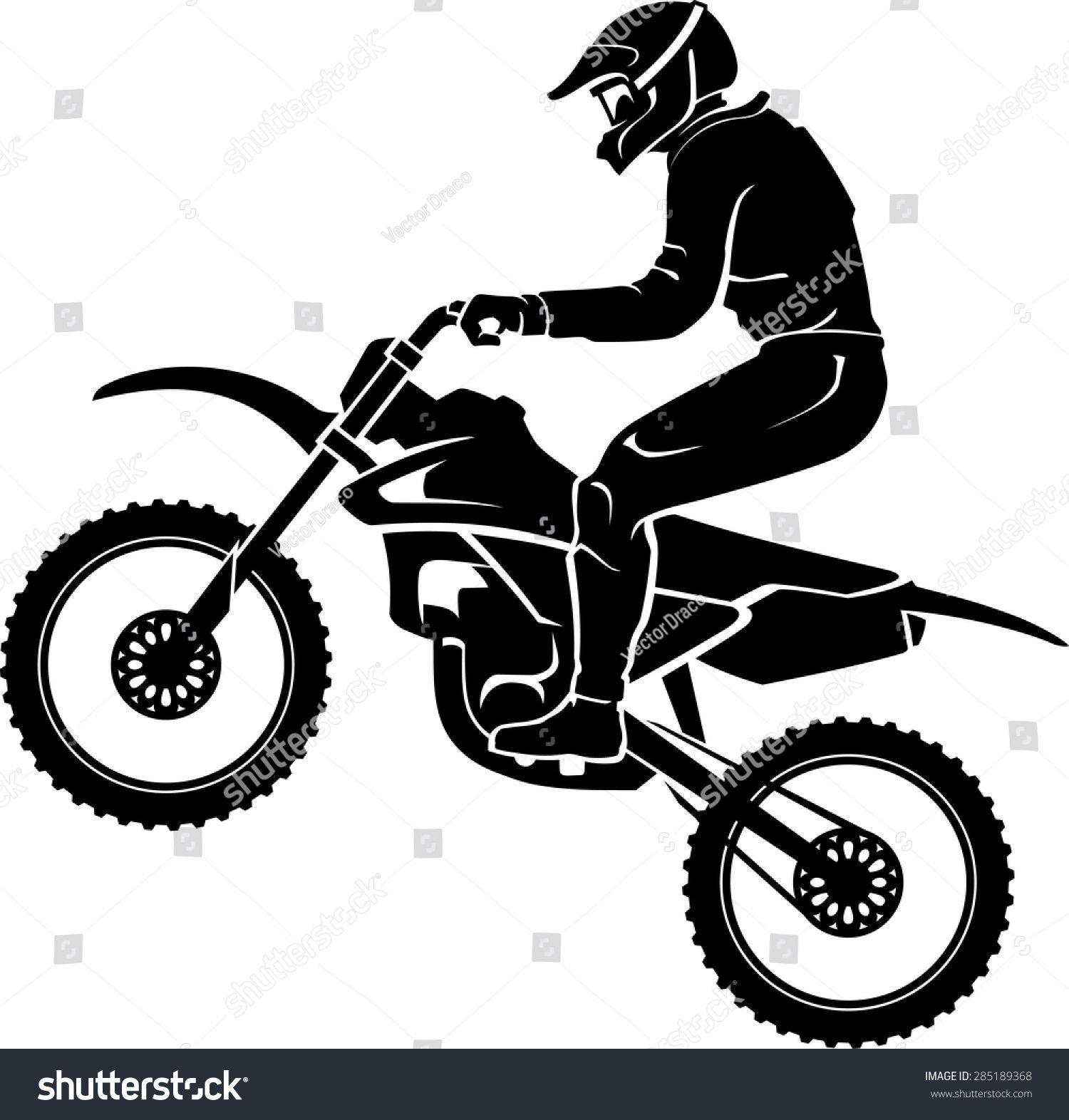 Motocross Rider Silhouette Motocross Riders Bike Silhouette
