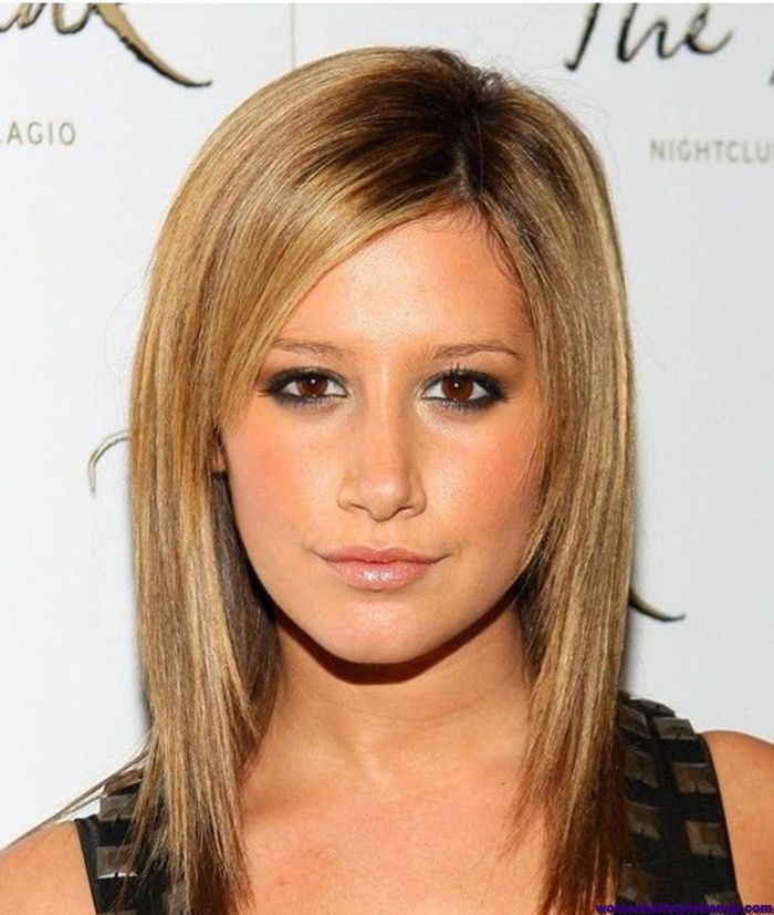 Medium Straight Hairstyles Medium Length Layered Hairstyles For Long Faces Girls With Straight
