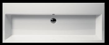 Bathroom wash basin Kube 120 by GSI ceramica - umywalka do łazienki na piętrze