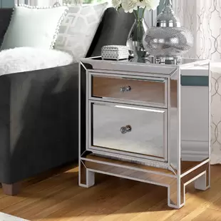 Mirrored Nightstands You Ll Love In 2019 Wayfair Furniture