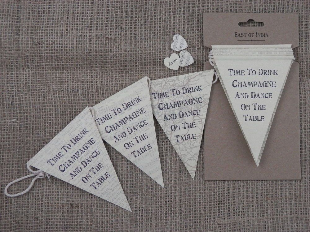 Wedding Bunting Garland 3 Metres- VINTAGE WEDDING DECORATION BY EAST OF INDIA