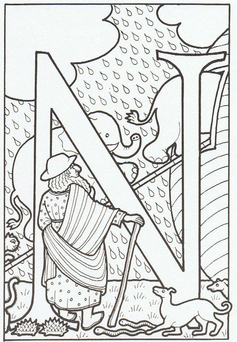 Coloriage N Comme Noe Bijbel Ark Van Noach Ark