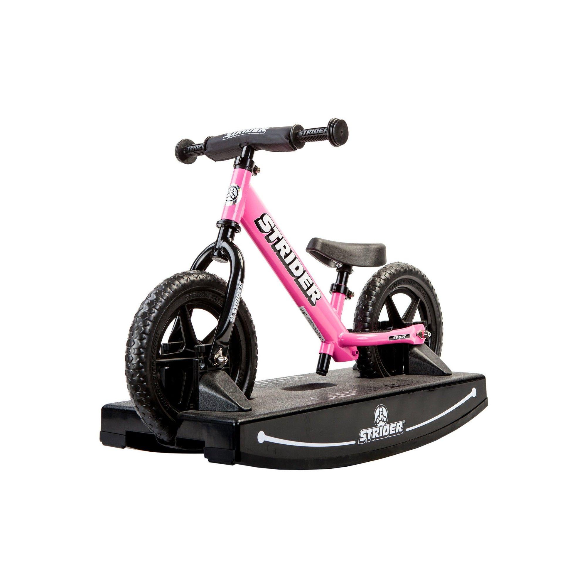 Strider 12 Sport Baby Bundle No Pedal Balance Bike Pink