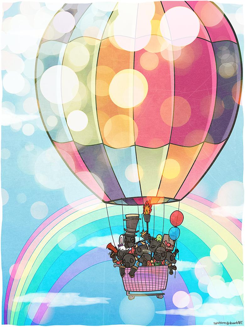 ходе рисунок на воздушном шаре своими руками скинуть фото айфона
