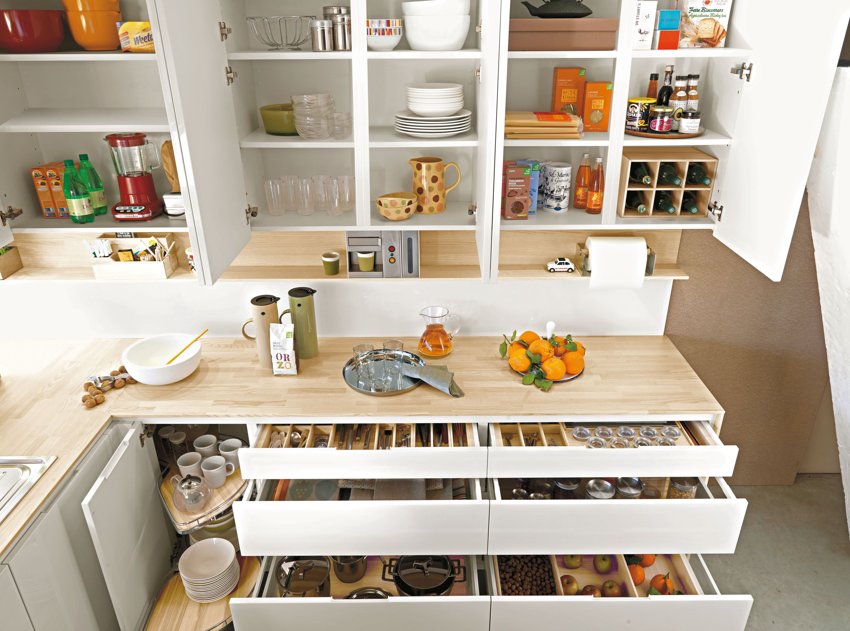 In the #cucina #kitchen every cm. is precious, but space is ...