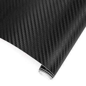 Trixes Adhesif 3d Fibre Carbone Vinyle Emballer Voiture Autocollant 1500 Mm X 300 Mm Autocollant Fibre De Carbone Vinyle