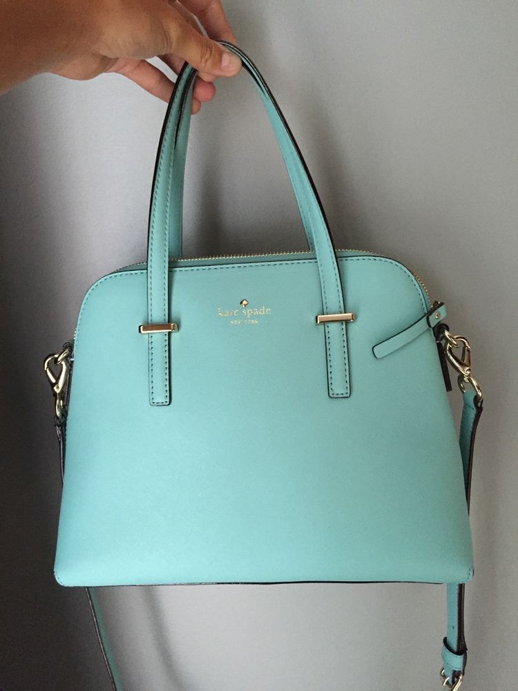 b4de8ed917 Kate Spade Cedar Street Maise Tiffany Blue Handbag Purse Crossbody ...