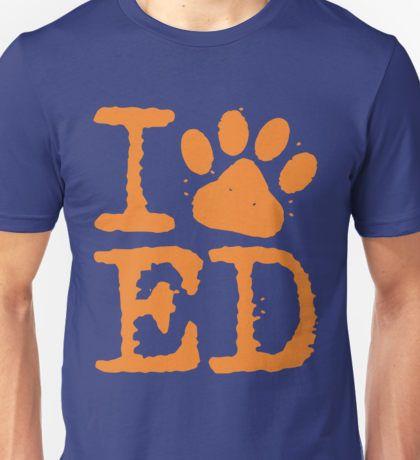 i love ed sheeran paw print heart ed Unisex T-Shirt