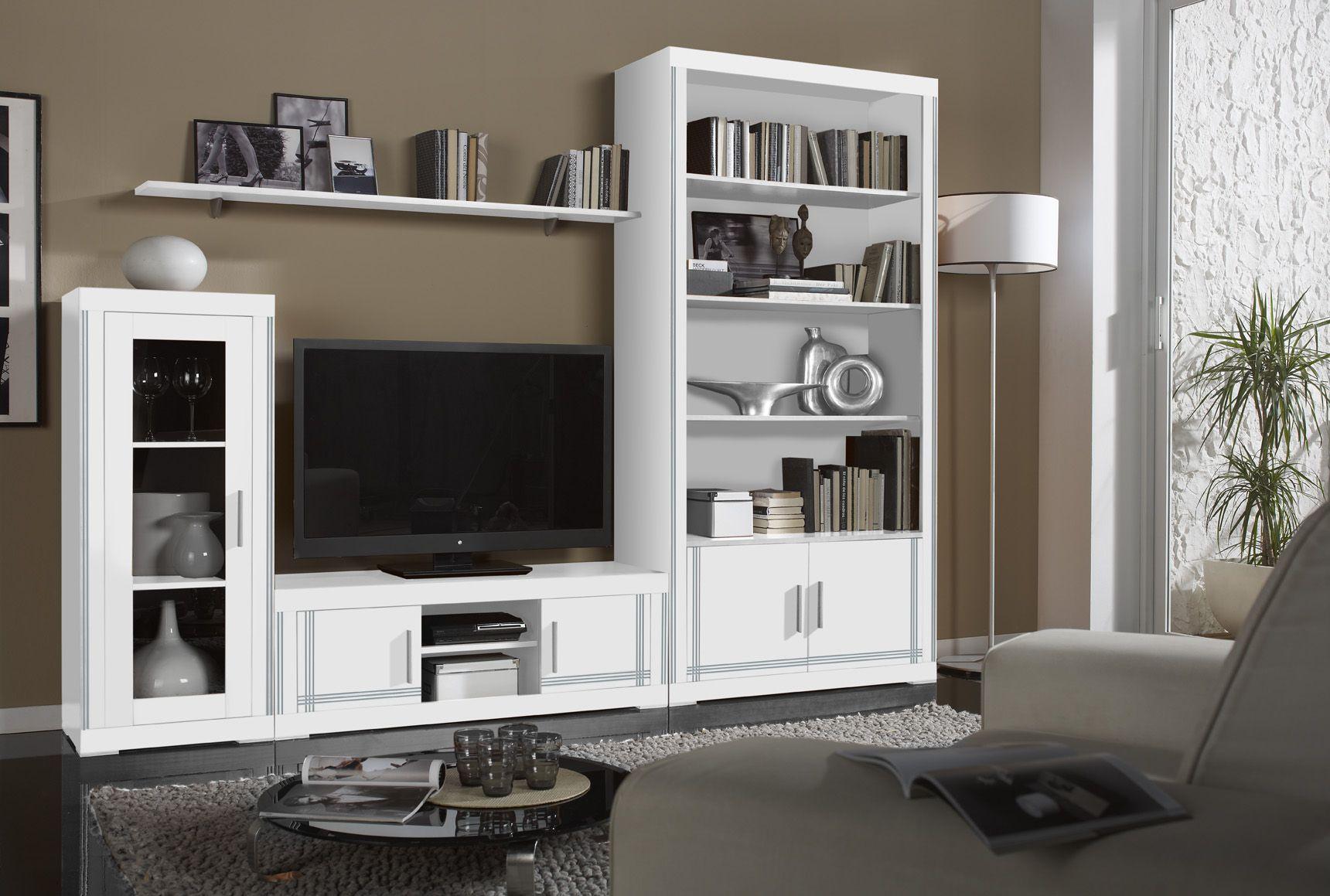 Mueble de pino macizo, lacado en blanco, fabricado en España ...