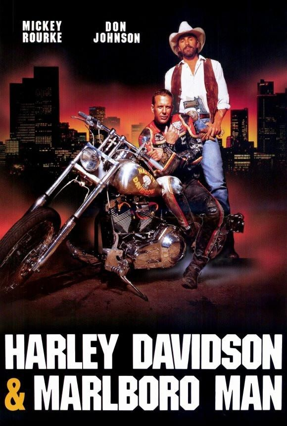 Harley Davidson And The Marlboro Man 27x40 Movie Poster 1991 Poster Film Motociclette