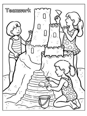 Printable Summer Coloring Pages | Teamwork and Kid printables