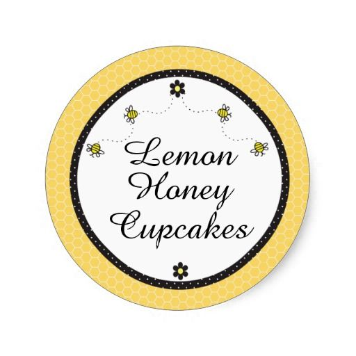 Cute Bumble Bees Cupcake Stickers
