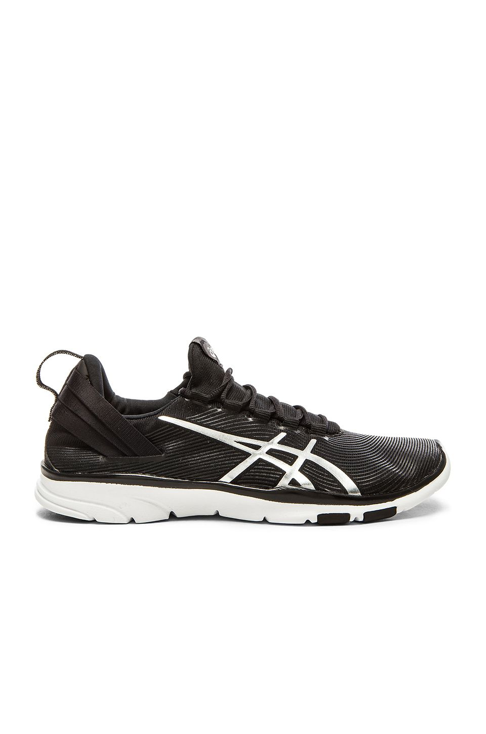 Asics Gel Fit Sana 2 Sneaker in Black, White & Silver