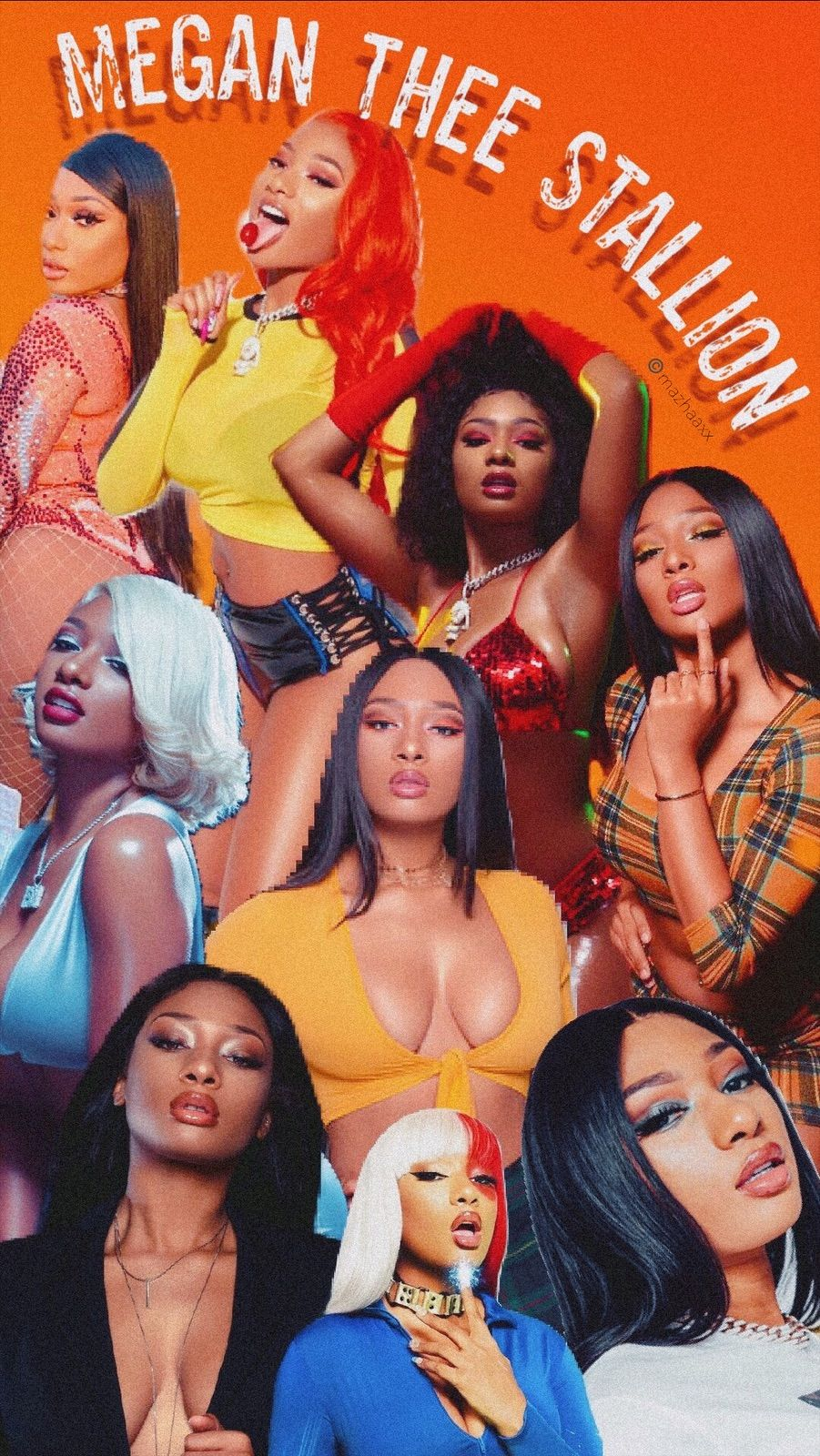 Thee Stallion Collage In 2020 Iconic Wallpaper Bad Girl Aesthetic Black Girl Aesthetic