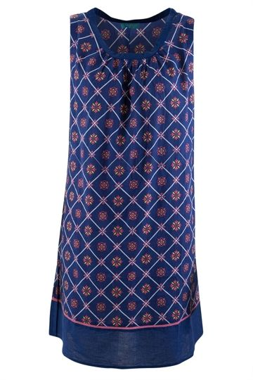 Firefly kaftans Shift Dress Spring Fleur Cotton - Womens Knee Length Dresses - Birdsnest Online Fashion Store