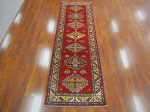 A stunning deep red reproduction of a Caucasian Tribal runner. Pak-Kazak #rug for #hallway