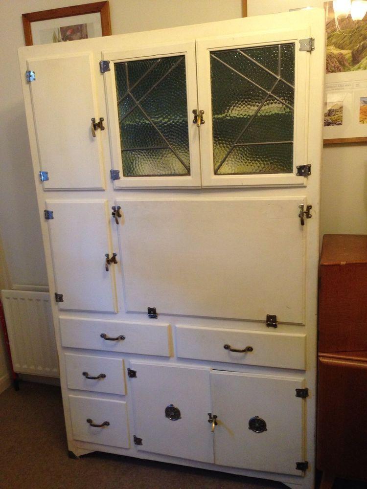 Vintage 40s 50s Hygena Kitchen Cabinet Kitchenette Or Larder Unit Kitchen Pantry Cupboard Larder Unit Hoosier Cabinets