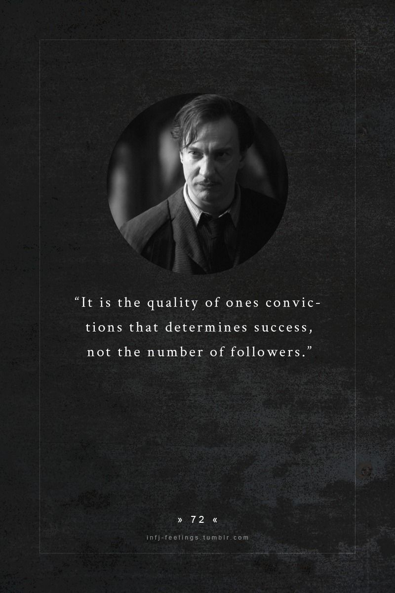 Remus Lupin: Werewolf, Formerly Hogwarts' Defense Against The Dark Arts Teacher, and Fellow INFJ