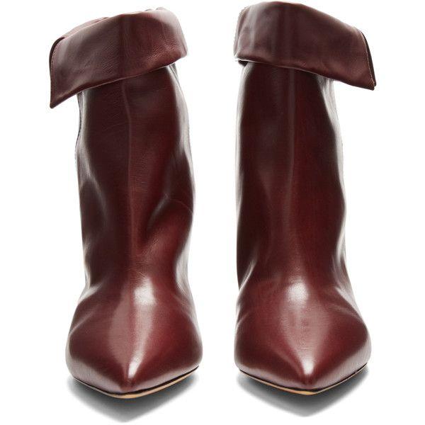 32e4b463bfe Isabel Marant Luliana leather ankle boots (59,180 INR) ❤ liked on ...