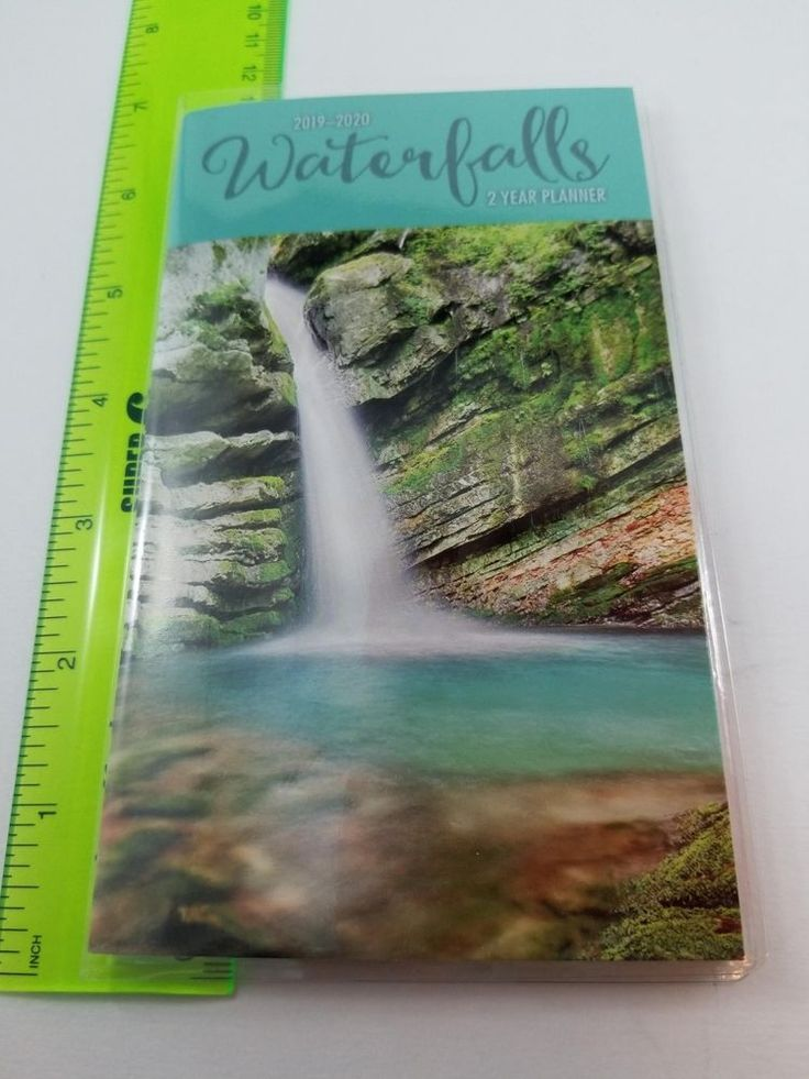 waterfalls pocket planner calendar 2019 2020 unbranded