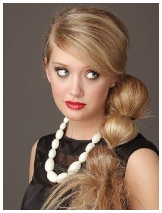 Side Ponytail Hairstyles For Girls | Side ponytail ...