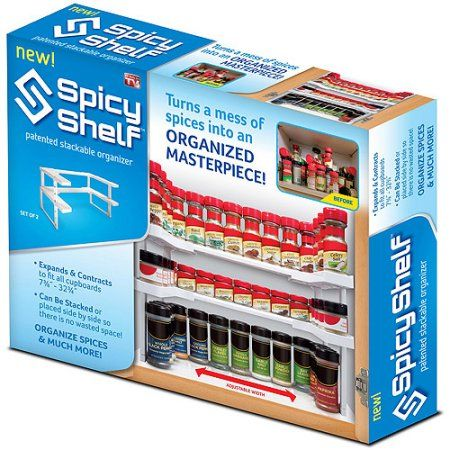 As Seen On Tv Spice Rack Buy As Seen On Tv Spicy Shelf At Walmart  Misc Pinterest