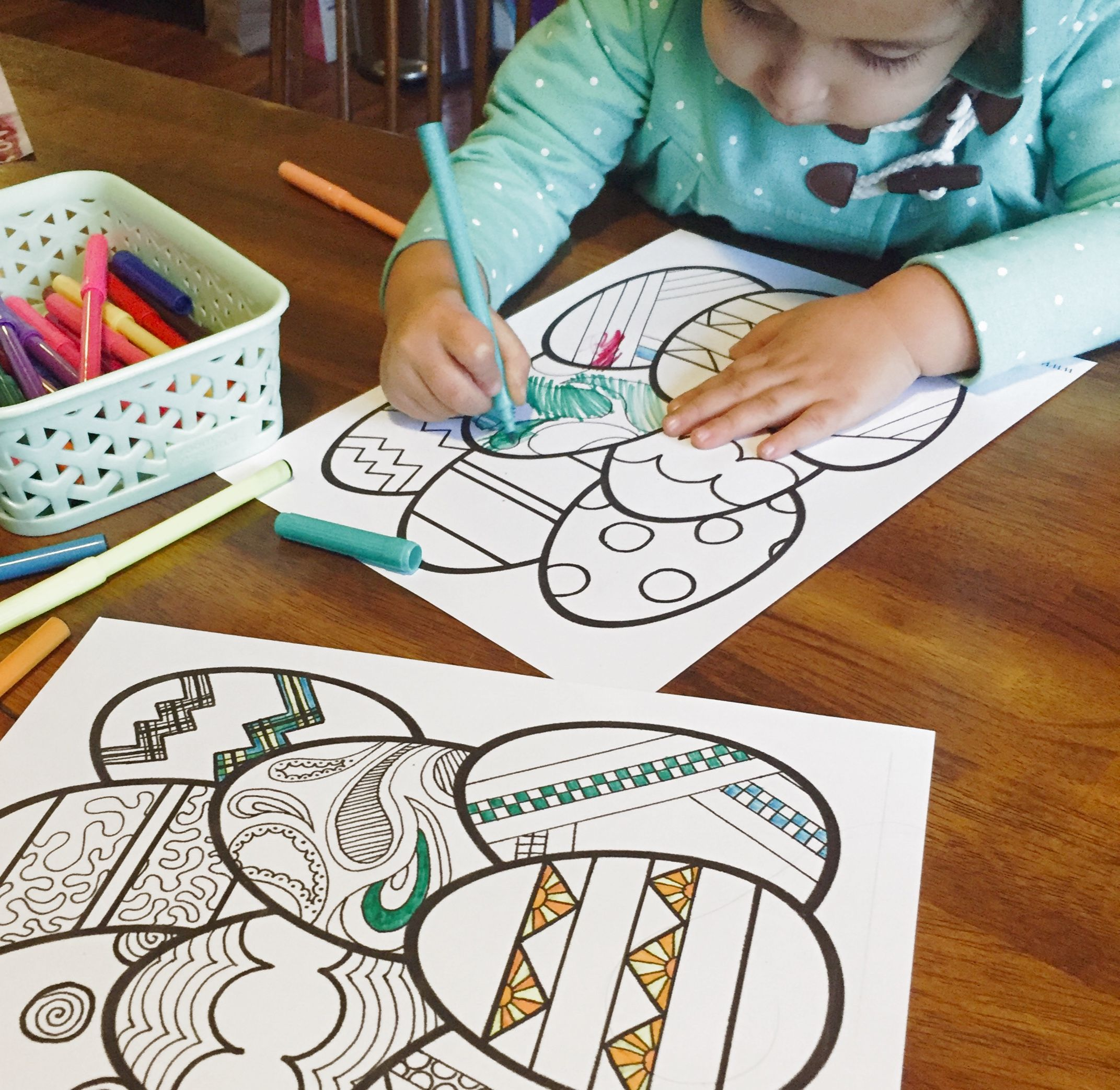Spring coloring pages and crafts - Easter Egg Coloring Pages Easter Printables