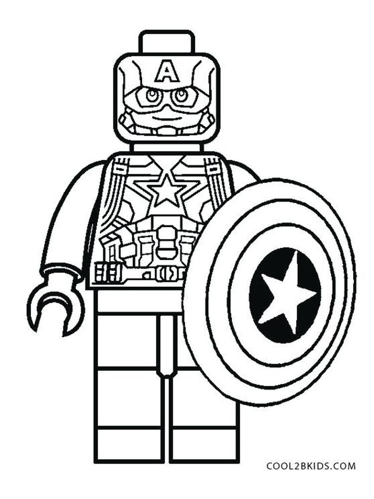 Marvel Captain America Coloring Page Below Is A Collection Of Free Captain America Coloring P In 2020 Lego Coloring Pages Captain America Coloring Pages Lego Coloring