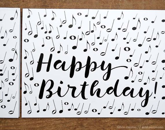 MUSIC NOTE Birthday Card Musician By Erinheaton