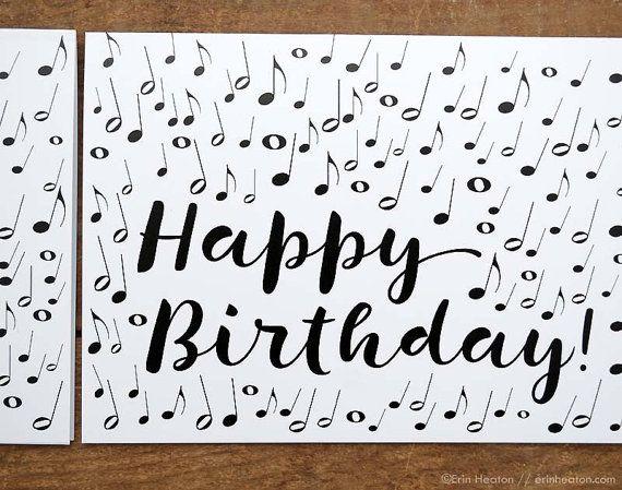 Music note birthday card musician birthday card music birthday music note birthday card musician birthday card by erinheaton bookmarktalkfo Image collections