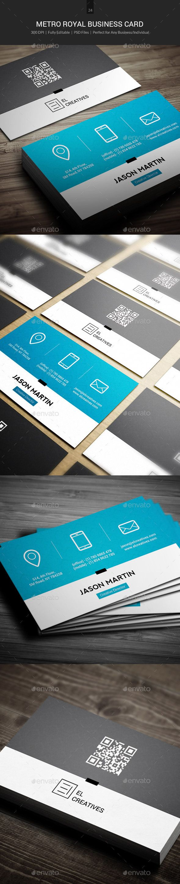Royal Metro Business Card - 24 | Business cards, Royals and Business